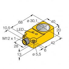 BI30R-Q20-AP6X2-H1141 | 1407500 датчик индуктивный кольцевой