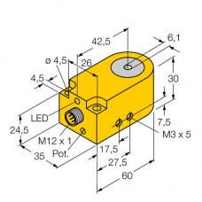 BI6R-W30-DAN6X-H1141 | 14037 датчик индуктивный кольцевой