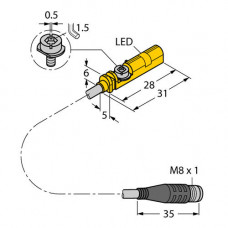 BIM-UNT-AN6X-0.3-PSG3S | 4685705 датчик магнитный